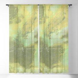 Peridot Abstract Acrylic from 52 Facets Zine Sheer Curtain