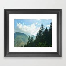 Adventure Beckons Framed Art Print