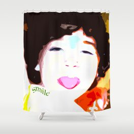 smile gg Shower Curtain