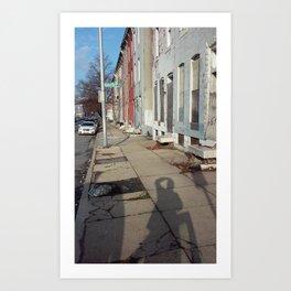 Shadows of Brentwood Av. Art Print
