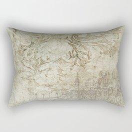 Vintage Provincial Wallpaper Rectangular Pillow