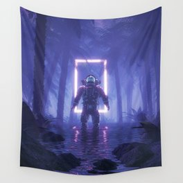 Lost In The Neon Jungle Wall Tapestry