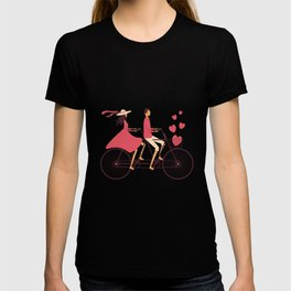 Love Couple riding on the bike T-shirt