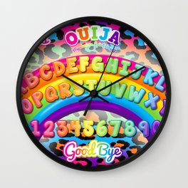 1997 Neon Rainbow Ouija Board Wall Clock