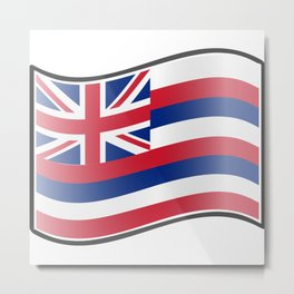 Waving Flag of Hawaii  Metal Print