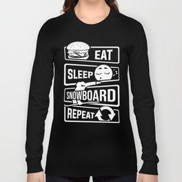 Eat Sleep Snowboard Repeat - Winter Snow Sports Long Sleeve T-shirt