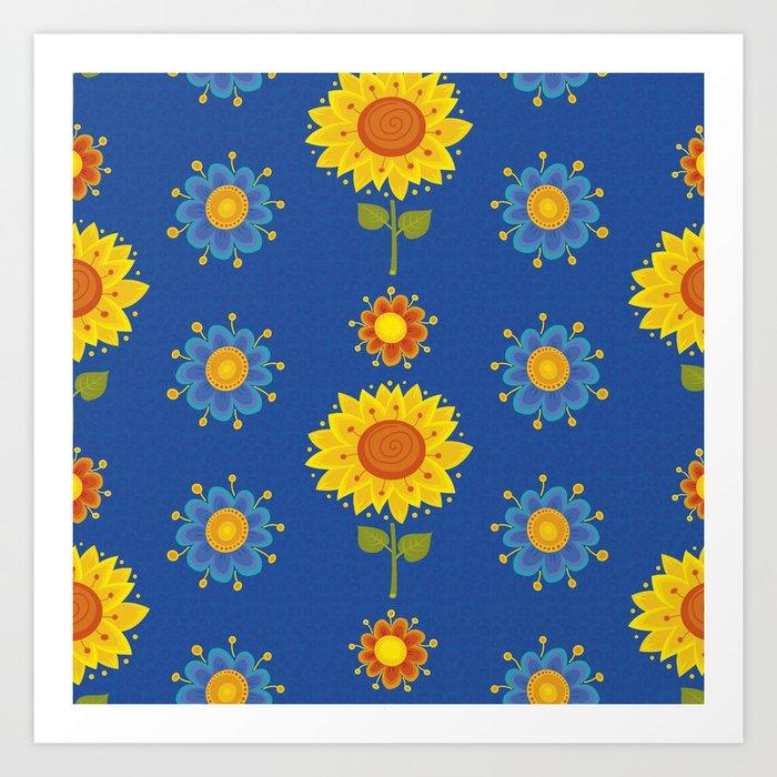 Sunflowers of Ukraine Art Print