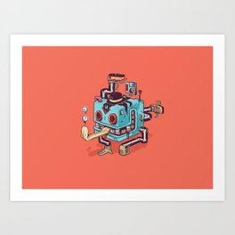 Cubicle Boy Art Print