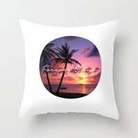 forever young Throw Pillows featuring FOREVER YOUNG by Shelby McCann