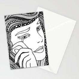 Roy Lichtenstein - Crying girl Stationery Cards
