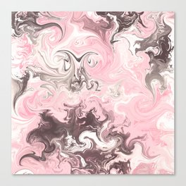 Modern pastel colors abstract watercolor marble Canvas Print