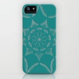 Dot Mandala Dark Green- 3D Pointilism iPhone Case