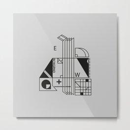 monochrome minimalism Metal Print