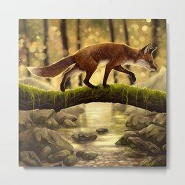 Fox Stroll Metal Print