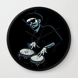 Bongo Beatin' Beatnik (Blue) Wall Clock