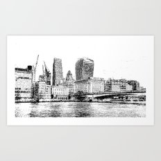 City of London Art Panorama Art Print