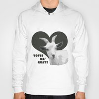 totes Hoodies featuring Totes Ma Goats - Grey by BACK to THE ROOTS