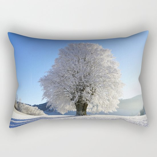 Frost Covered Tree 2 Rectangular Pillow