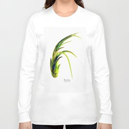 Tillandsia Paucifolia Air Plant Watercolors Long Sleeve T-shirt