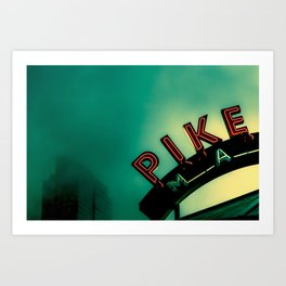 Pike Place Market at Dawn Art Print