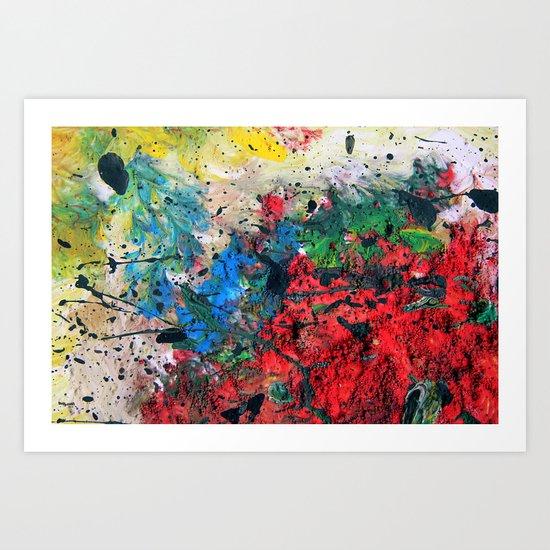Acryl-Abstrakt 06  Art Print