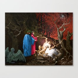 Dante and the self murderers Canvas Print