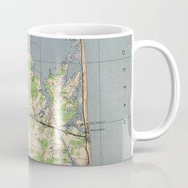 Vintage Rehoboth & Bethany Beach DE Map (1944) Coffee Mug