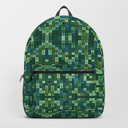 Forest Green & Teal Mosaic Backpack
