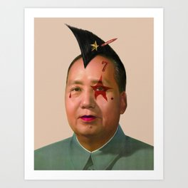 Rocky Rock Mao Art Print
