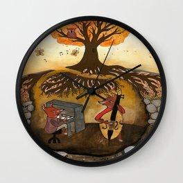 Fox Jam  Wall Clock