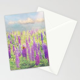 Field of Lupins Stationery Cards
