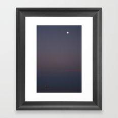 Gulf Moonrise Framed Art Print