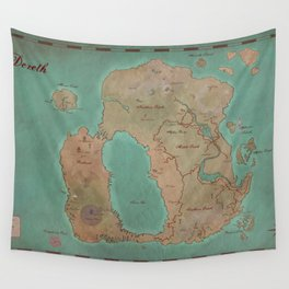 Map of Dereth //Asheron's Call Wall Tapestry