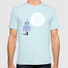 How to Greet a Robot SMALL Light Blue Mens Fitted Tee