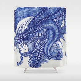 Dragon Intruder Shower Curtain