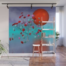 fancy tree and full moon -2- Wall Mural