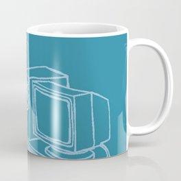Blue Computer Coffee Mug