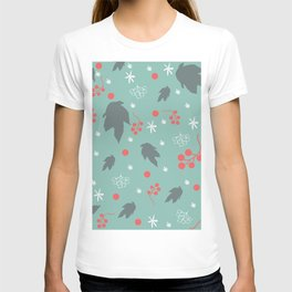 Seamless Pattern with hand drawn leaves. Scandinavian Style T-shirt