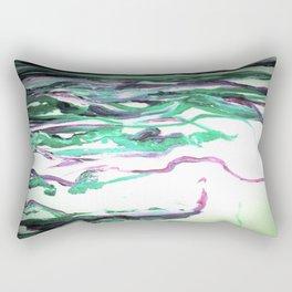 Abstract Waterfall Acrylic Painting Rectangular Pillow