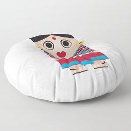 Nepali Girl Floor Pillow