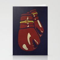 boxing Stationery Cards featuring Power Boxing by Lucas Scialabba :: Palitosci