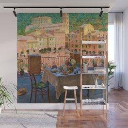 My lunch table in Portofino Italian Riviera by Kristian Zahrtmann Wall Mural