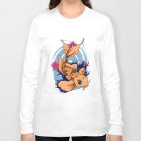 koi fish Long Sleeve T-shirts featuring koi fish by Pinkspoisons