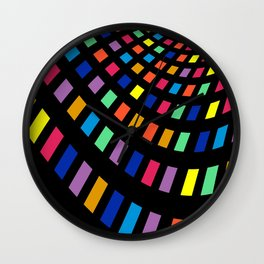 illustrations color table Wall Clock