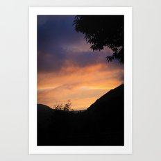 Sunset in the Mountains Art Print