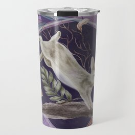 Forest Rabbit Floral Art Nouveau Design Travel Mug