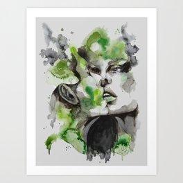 Kiss by carographic Art Print