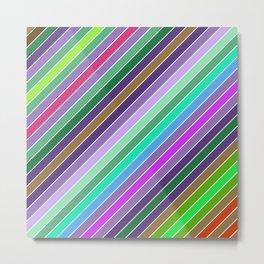 Happy diagonal lines Metal Print