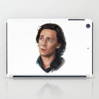 tom selleck iPad Cases featuring Tom - Loki by Annike