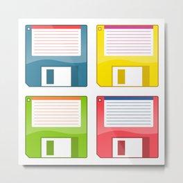 3.5 Inch Floppy Discs Metal Print
